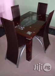 Imported Unique Quality Glass Dining Table 4 Seaters   Furniture for sale in Lagos State, Ikoyi