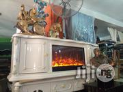 White TV Console With Fire Funnes   Furniture for sale in Lagos State, Lekki Phase 1