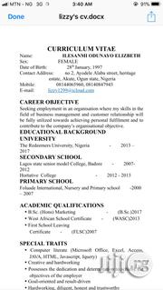 Other CV   Advertising & Marketing CVs for sale in Cross River State
