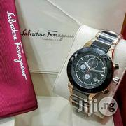 Ferragamo Crystal Black Ceramic Chain Chronogragh Watch,   Watches for sale in Lagos State, Surulere