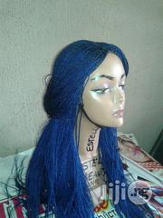 Blue Braided Wig With Human Hair Closure | Hair Beauty for sale in Lagos State, Lagos Island