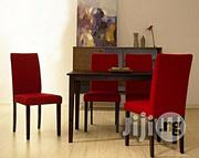 Universal Handys - Tiffany Shino Crimson Linen & Cappuccino Wood 5-pie | Furniture for sale in Lagos State, Magodo