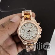 Michael Kors Ladies Rosegold Crystal Chain Chronogragh Watch   Watches for sale in Lagos State, Surulere