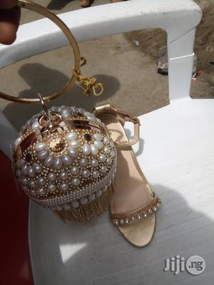 Italian Sandals and Clutch