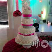 Pink And White Wedding Cake | Wedding Venues & Services for sale in Abuja (FCT) State, Kado