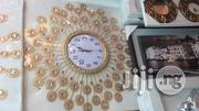 Golden Unique Wall Clock . | Home Accessories for sale in Lagos State, Lagos Island