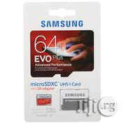 Samsung 64GB EVO Plus Class 10 Micro SDXC With Adapter 80mb/S | Accessories for Mobile Phones & Tablets for sale in Lagos State, Ikeja