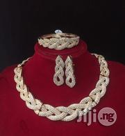 Zircionia Gold Full Stone Choker Jewelery Set | Jewelry for sale in Lagos State, Ajah