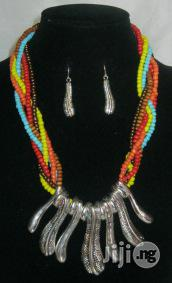 Multicoloured Statement Neckpiece With Silver Pendants | Jewelry for sale in Lagos State, Surulere