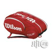 Teanni Lawn Tennis Bag Wilson Tour Blue 6 Pack - Red | Sports Equipment for sale in Lagos State, Surulere