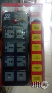 Mecury 6 Way Surge Protector(With 4 Usb Slots) | Computer Accessories  for sale in Lagos State, Ikeja