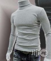 Police Turtle Neck Longsleeve T Shirt Grey L -- XL   Clothing for sale in Lagos State, Surulere