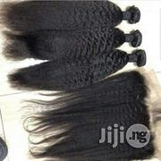 Yanky Straight Virgin Human Hair With Frontal 18inches   Hair Beauty for sale in Lagos State, Amuwo-Odofin