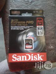 Sandisk Extreme Pro Sdxc Uhs 1 Card 64gb SD Camera | Accessories & Supplies for Electronics for sale in Lagos State, Ikeja