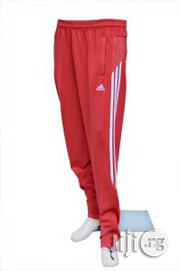 Trackdown Adidas Trackdown Sport Pants Trousers Red | Clothing for sale in Lagos State, Surulere