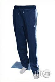 Trackdown Adidas Trackdown Sport Pants Trousers Navy Blue | Clothing for sale in Lagos State, Surulere
