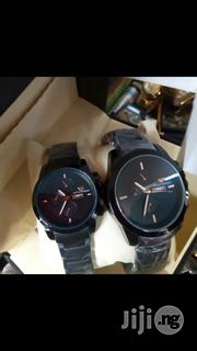 Emporio Armani Black Crystal Chain Couples Watch   Watches for sale in Lagos State, Surulere