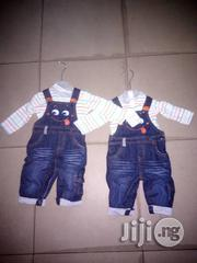 Baby Jean Dungrees With Body Suite | Children's Clothing for sale in Lagos State, Lagos Island