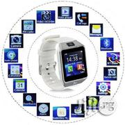 DZ09 Android Smart Phone Watch With Sim SD Card Slot - Gold | Smart Watches & Trackers for sale in Lagos State, Ikeja