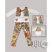 3 Pcs Flower Pant With White Top and Jacket | Clothing for sale in Lagos State, Lagos Mainland