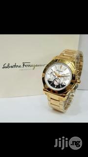 Salvatore Ferragamo Crystal Gold Chain Chronogragh Watch   Watches for sale in Lagos State, Surulere