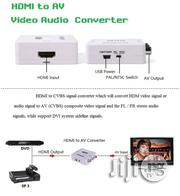 Mini HD Video Converter Box 1080P HDMI To AV/CVSB Video Adapter | Accessories & Supplies for Electronics for sale in Lagos State, Ikeja