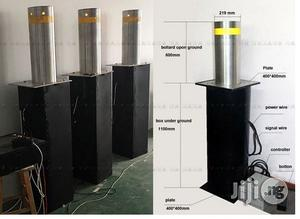 Fold Down Automatic Parking Posts Road Bollard With Led