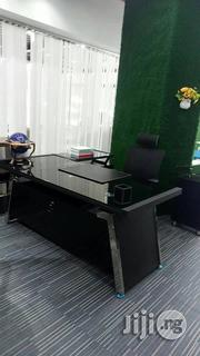 Black Glass Office Executive Table. | Furniture for sale in Lagos State, Victoria Island