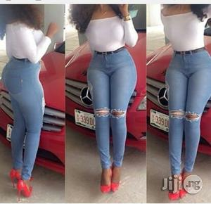 Double Knee Monoslide Thigh Ripped Pencil Jean