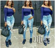 Crazy Ripped Thigh Wash Jean | Clothing for sale in Lagos State, Ikorodu