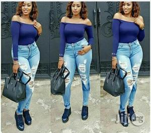 Crazy Ripped Thigh Wash Jean