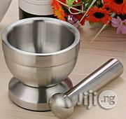 ND-KITCHEN Double Stainless Steel Mortar + Pestle Garlic Mills Mincers | Kitchen & Dining for sale in Lagos State, Apapa