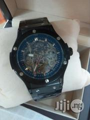 Hublot Geneve Automatic Mechanical Engine Black Crystal Chain Watch   Watches for sale in Lagos State, Surulere