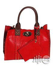 USA Made 3in1 Studded Tote Bag With Long Strap - Red And Coffee Brown | Bags for sale in Lagos State, Ikeja