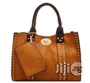 USA Made 3-In-1 Studded Tote Bag With Long Strap - Coffee Brown | Bags for sale in Lagos State, Ikeja