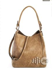 USA Made 2-in-1 Chic Modern Satchel With Long Strap - Light Brown | Bags for sale in Lagos State, Ikeja
