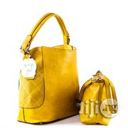 USA Made 2-in-1 Chic Modern Satchel With Long Strap - Mustard | Bags for sale in Lagos State, Ikeja