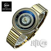 Keep Moving Alpha Male Lion Invisible Seconds Chain Watch - Gold | Watches for sale in Abuja (FCT) State, Gwagwalada