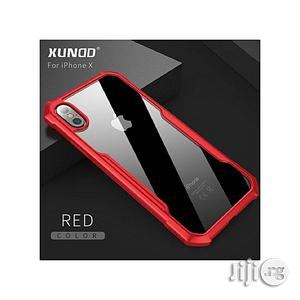 iPhone Transparent Defender Case For iPhone X Red