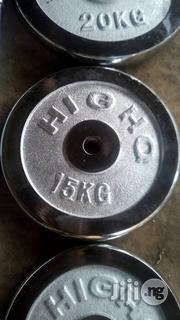 New 20kg,15kg,10kg,7.5kg,5kg Weight Plates At Favour Sports Station   Sports Equipment for sale in Rivers State, Port-Harcourt