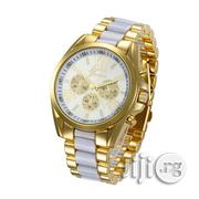GENEVA 9708 White Gold Chain Wrist Watch | Watches for sale in Lagos State, Surulere