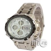Quamer Silver White Face Led Digital Quartz Wrist Watches | Watches for sale in Lagos State, Surulere