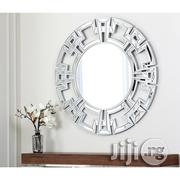 Abbyson Living Pierre Greek Key Silver Round Wall Mirror | Home Accessories for sale in Lagos State, Lekki Phase 2