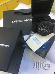 Emporio Armani Black Crystal Chain Chronograph Watch   Watches for sale in Lagos State, Lagos Mainland