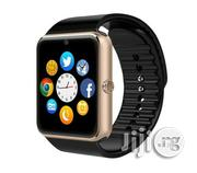 GT08 Smartwatch With Sim & Memory Card Slot, & Camera - Gold | Smart Watches & Trackers for sale in Lagos State, Oshodi-Isolo