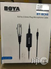 BOYA BY-BCA6 Microphone Adapter Cable 3.5mm Stereo Headphone Jack To XLR Input | Accessories & Supplies for Electronics for sale in Rivers State, Port-Harcourt
