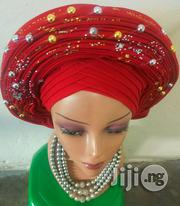 Red Auto Gele | Clothing for sale in Rivers State, Port-Harcourt
