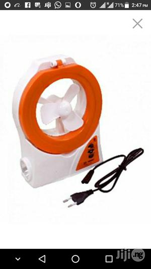Rechargeable Table Fan And Lamp