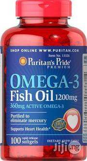 Puritans Pride Omega -3 Fish Oil 1200mg-100softgels   Vitamins & Supplements for sale in Lagos State, Surulere