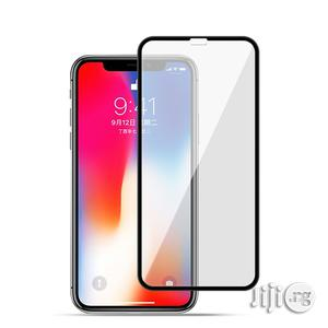 iPhone X Protective Tempered Glass Screen Guard - Black